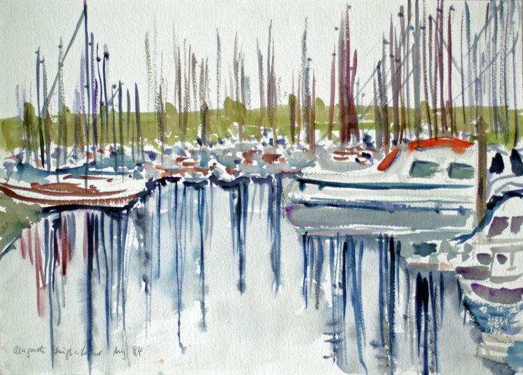 Yachthafen von Coljinsplaat, 1984