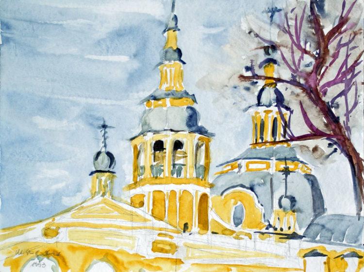 Russische Kirche in Minussinsk (Sibirien), Oktober 1993